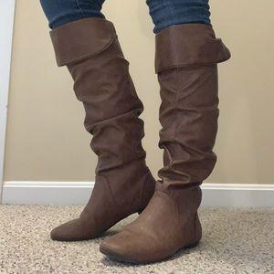 Chestnut tall boots